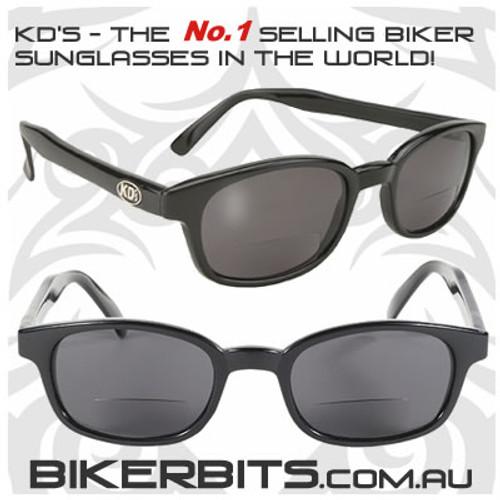 Motorcycle Sunglasses - KD's Readerz - Smoke - 2.25