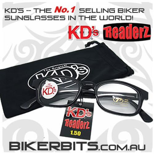 Motorcycle Sunglasses - KD's Bi-Focal Readerz - Clear - 1.50