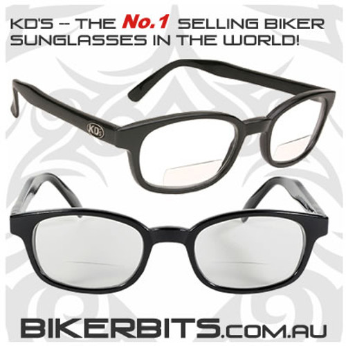 Motorcycle Sunglasses - KD's Readerz - Clear - 1.50