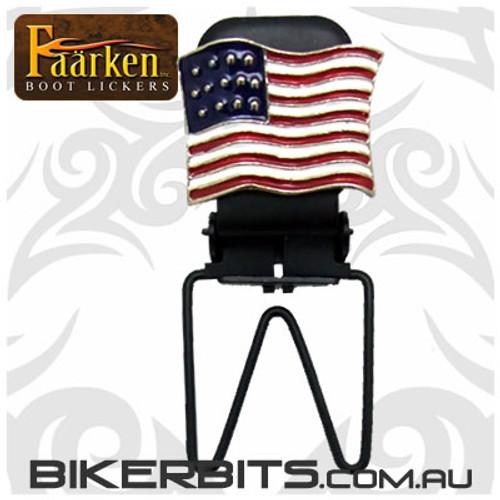 Faarken Biker Boot Lickers - American Flag