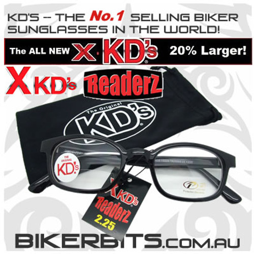 Motorcycle Sunglasses - X KD's Readerz - Clear - 2.25