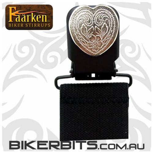 Faarken Biker Stirrups - Small Heart