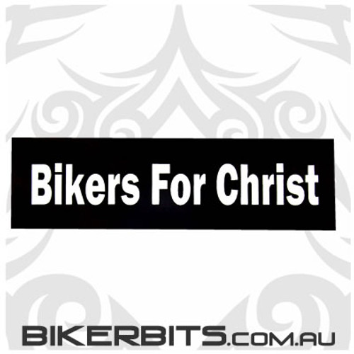 Helmet Sticker - Bikers For Christ