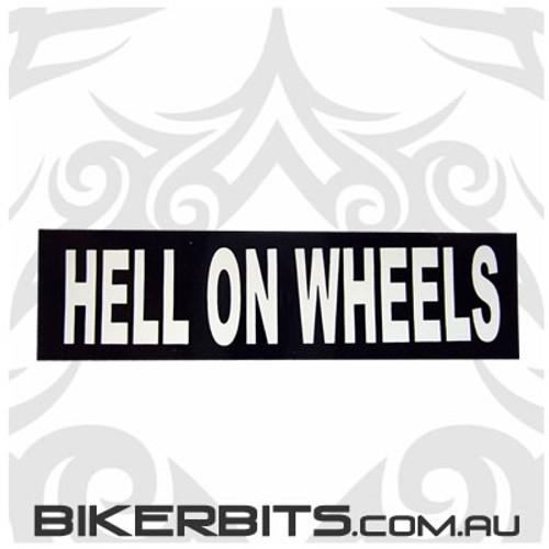 Helmet Sticker - Hell On Wheels