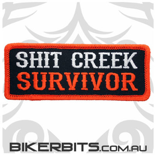 Shit Creek Survivor Biker Patch