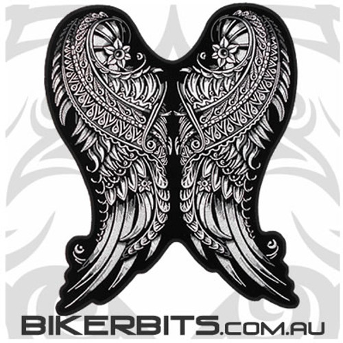 Embroidered Patch - Ornate Angel Wings