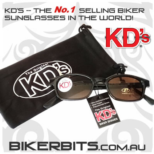 Motorcycle Sunglasses - KD's Black - Brown