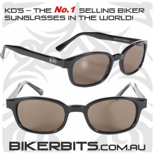 Motorcycle Sunglasses - KD's Black - Brown
