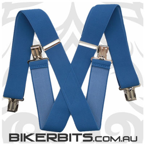 Biker Suspenders - Blue