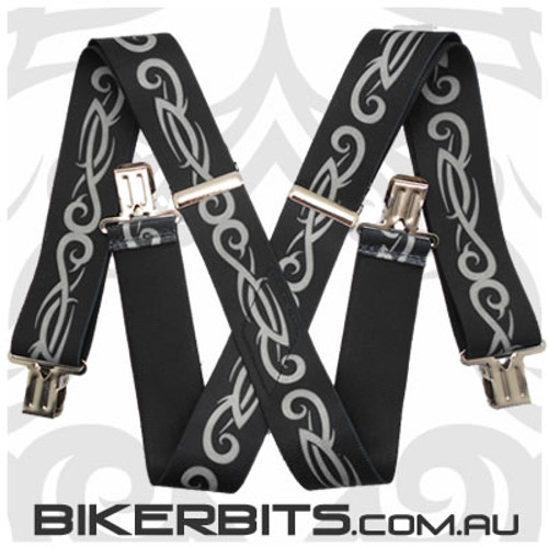 Biker Suspenders - Tribal