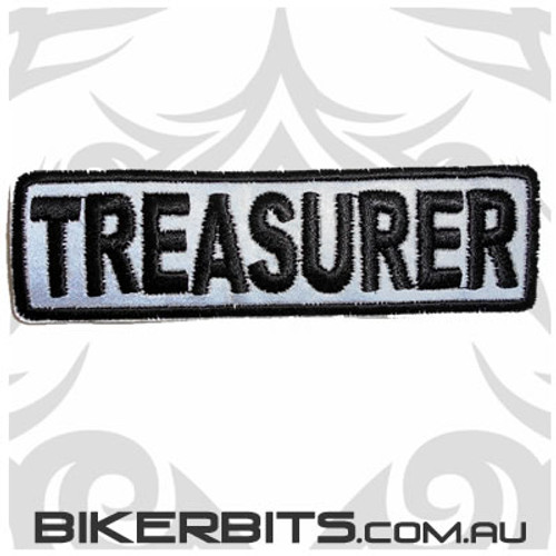 Patch - Biker Club TREASURER - Reflective