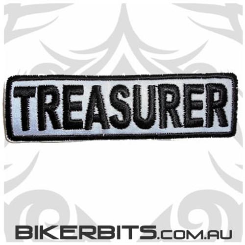 Patch - Biker Club TREASURER - Reflective