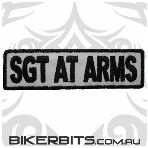 Patch - Biker Club SGT AT ARMS - Reflective