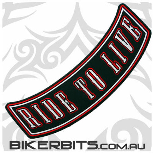 Patch - Biker Club Rocker - RIDE TO LIVE - Red