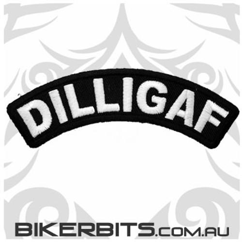 Patch - Biker Club Rocker - DILLIGAF - Small