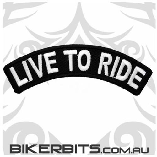 Patch - Biker Club Rocker - Live To Ride - Small