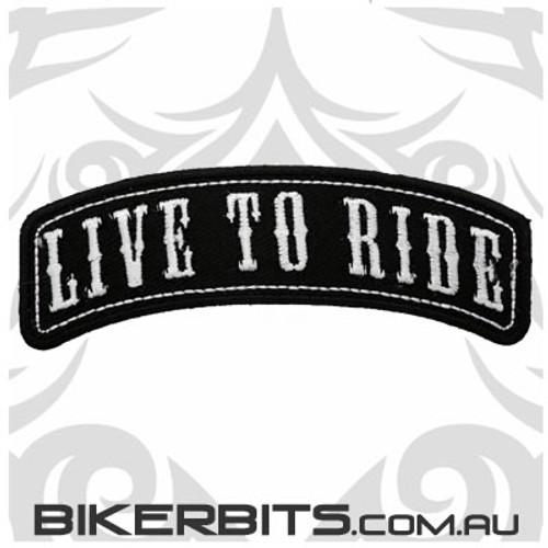 Patch - Biker Club Rocker - Live To Ride - Fancy - Small
