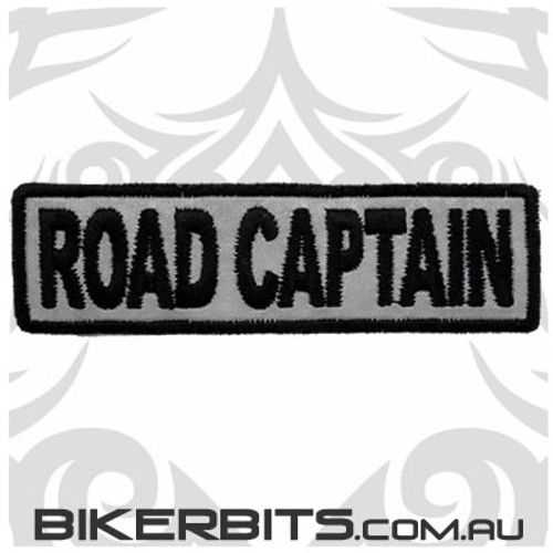 Patch - Biker Club ROAD CAPTAIN - Reflective
