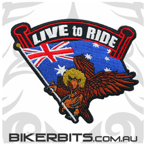 Patch - Live to Ride - Australia - NEW