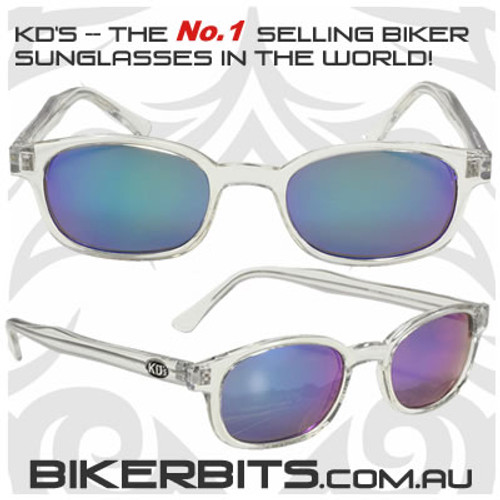 Motorcycle Sunglasses - KD's Chill - Coloured Mirror