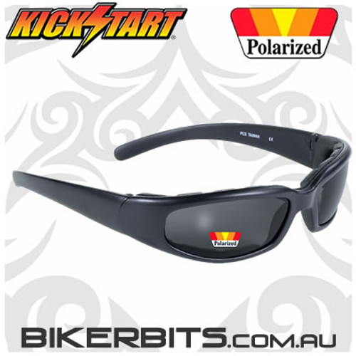 Motorcycle Sunglasses - Rally - Matte Black / Polarized Lens