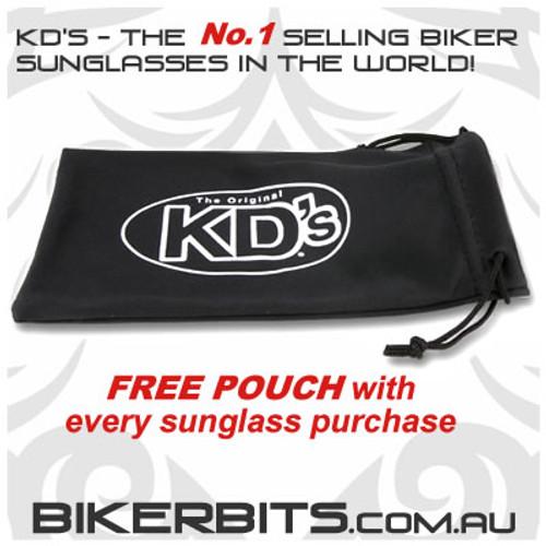 Motorcycle Sunglasses - KD's Black - Dark Grey