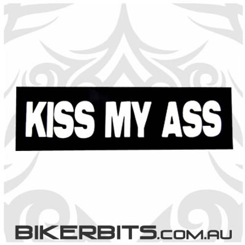 Helmet Sticker - Kiss My Ass