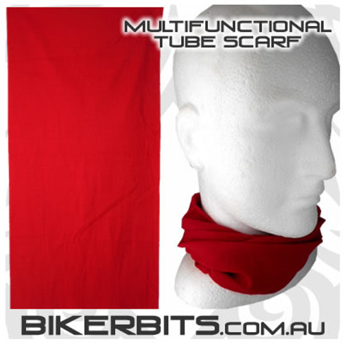 Headwear - Multifunctional Tube Scarf - Red