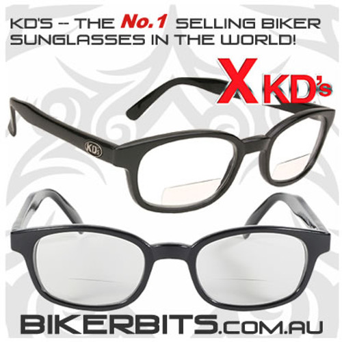 Motorcycle Sunglasses - X KD's Readerz - Clear - 2.00
