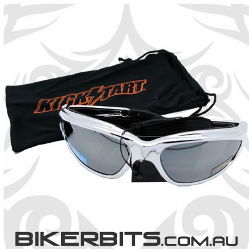 Motorcycle Sunglasses - Freedom Silver Mirror