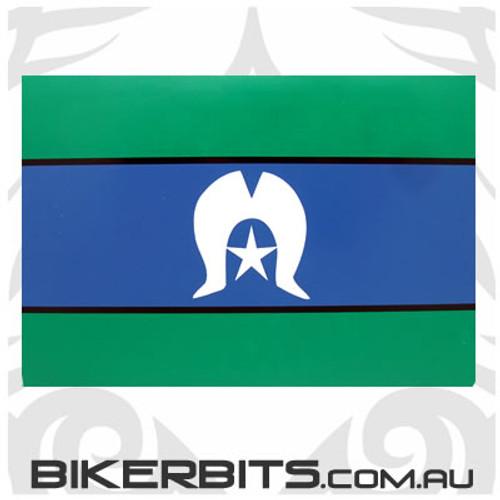 Biker Decal - Torres Strait Islander Flag