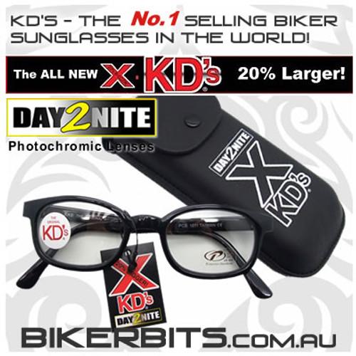 Motorcycle Sunglasses - X KD's Black - Day2Nite Lenses