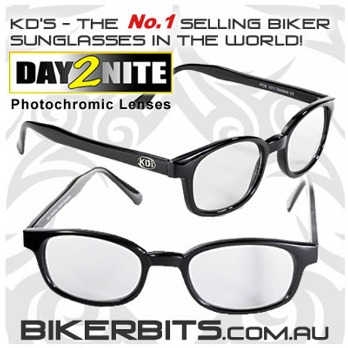 Motorcycle Sunglasses - X KD's Black - Day2Nite Lenses
