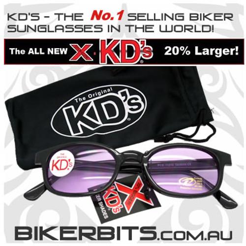 Motorcycle Sunglasses - X KD's Black - Purple