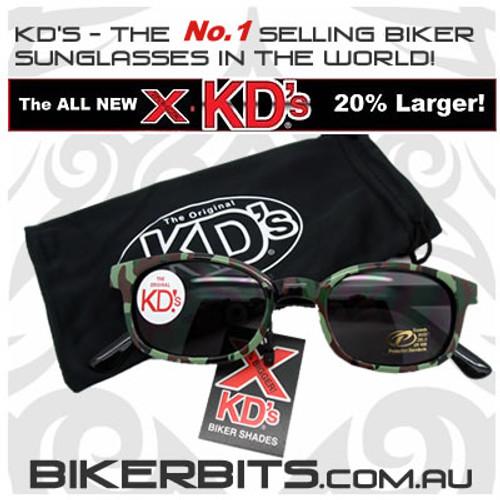 Motorcycle Sunglasses - X KD's Camo - Smoke