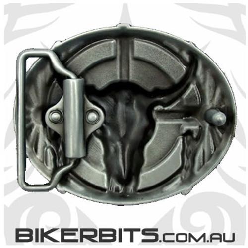 Belt Buckle - Bull Skull