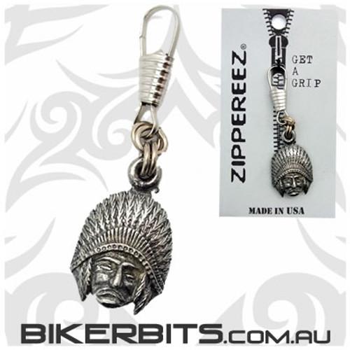 Zippereez Zipper Pull - Indian Head