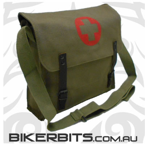 Nato Medic Bag - Olive With Red Cross