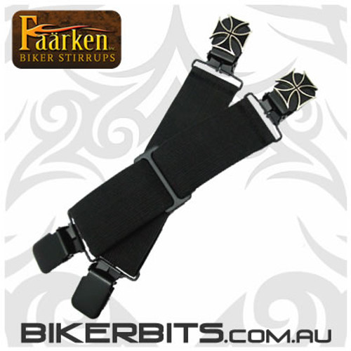 Faarken Biker Stirrups - Iron Cross