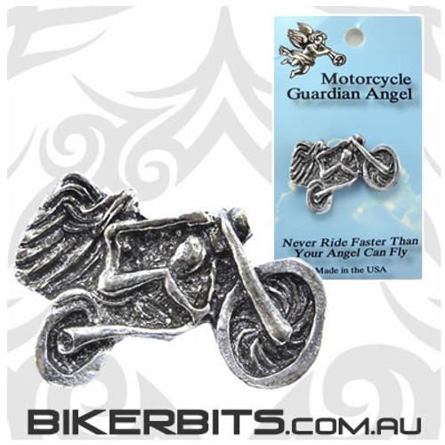 Lapel Pin - Lady Riding a Motorcycle