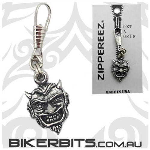 Zippereez Zipper Pull - Winking Devil