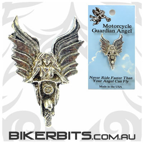 Lapel Pin - Angel Riding a Motorcycle