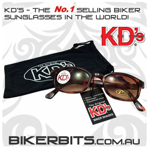 Motorcycle Sunglasses - KD's Tortoise Frame/Brown Gradient