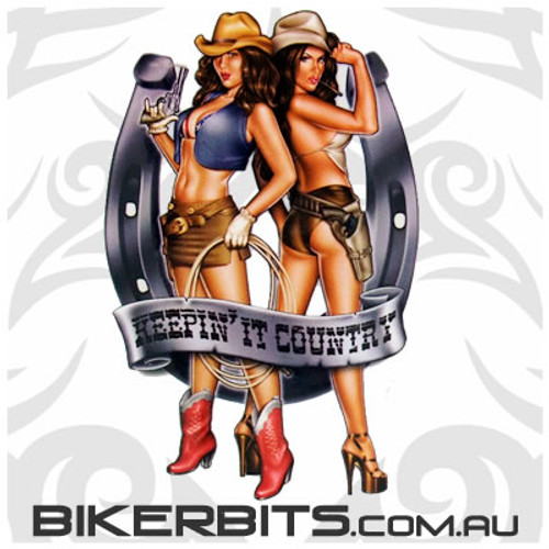 Biker Decal - Keepin' It Country