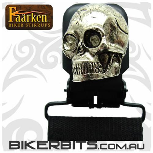 Faarken Biker Stirrups - Lone Skull