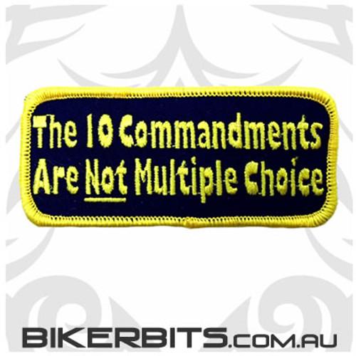 Patch - The 10 Commandments