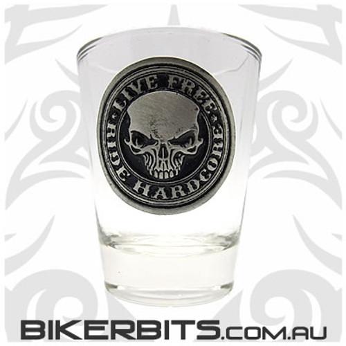 Shot Glass - Live Free Ride Hardcore