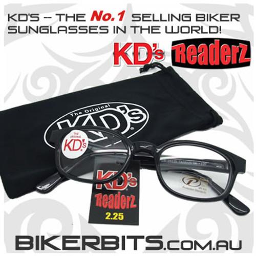 Motorcycle Sunglasses - KD's Bi-Focal Readerz - Clear - 2.25