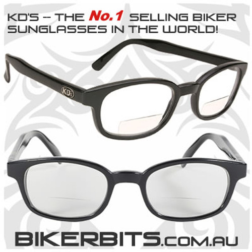 Motorcycle Sunglasses - KD's Readerz - Clear - 2.25