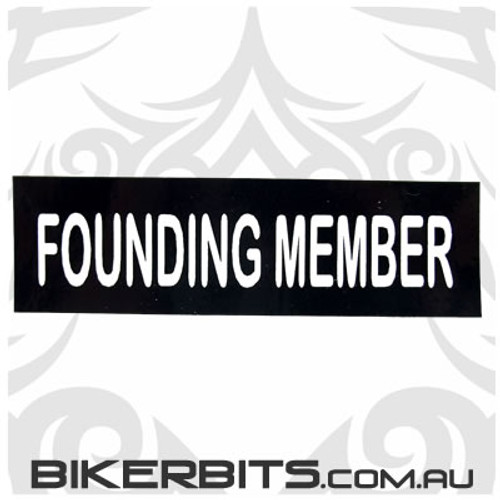 Helmet Sticker - Founding Member